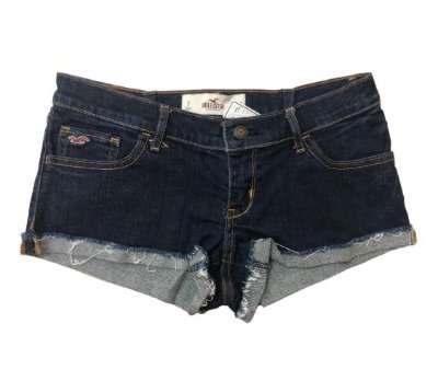 Shorts Jeans Escuro Curto Hollister