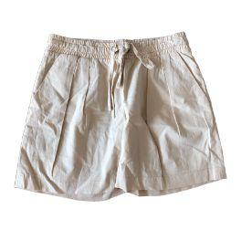 Shorts Bege com Elástico Yogini