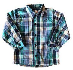 Camisa Xadrez Tons de Verde Up Baby