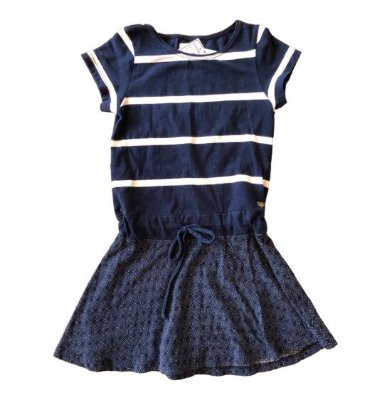 Vestido Azul Marinho e Branco Le Lis Petit