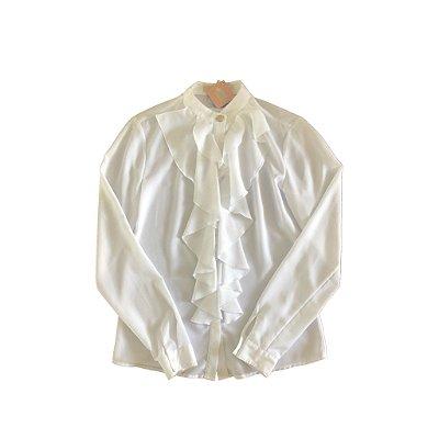 Camisa Branca com Babados Michael Kors