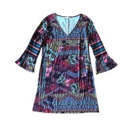 Vestido Manga Longa Estampado Wool Line