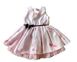 Vestido Rosa de Festa Via Flora