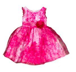 Vestido Festa Floral Pink e Branco Sweet Heart Rose