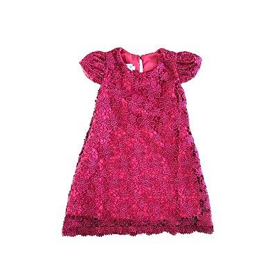 Vestido Renda Vermelho Via Flora