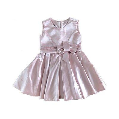 Vestido de Festa Rosa Via Flora