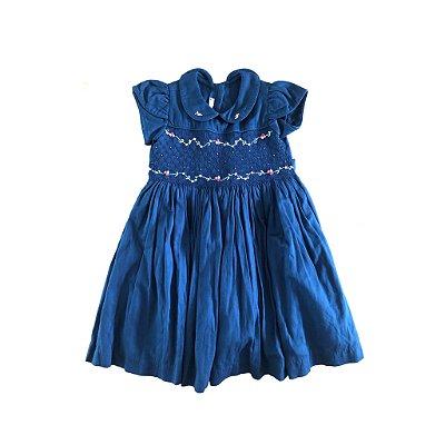 Vestido Azul Marinho Casinha de Abelha Beija Flor