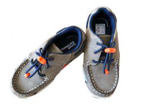 Sapato Marrom com Cadarço Azul e Laranja Timberland