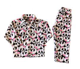 Pijama 2 pçs Plush Ursinho Panda Tip Top