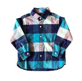 Camisa Xadrez Azul Tommy Hilfinger