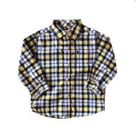 Camisa Xadrez Amarela, Branca e Azul Tommy Hilfinger