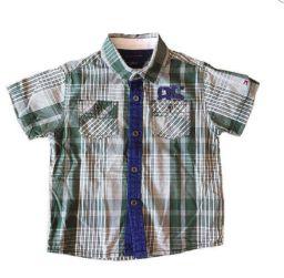 Camisa Manga Curta Xadrez Verde Tommy Hilfinger