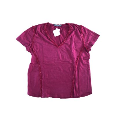 Blusa Vermelha com Apliques Mixed