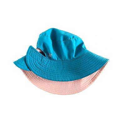 Chapéu Dupla Face Azul e Rosa UV Line