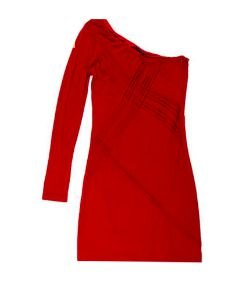 Vestido Vermelho um Ombro Só Tufi Duek