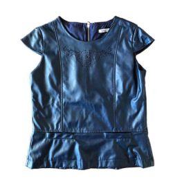 Blusa Azul Marinho Corino Tyrol