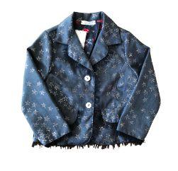 Blazer Azul com Estrelas e Tule Tyrol