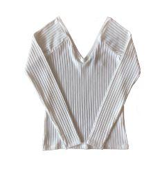 Blusa Manga Longa Branca Zara