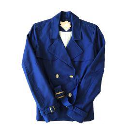 Casaco Azul Marinho com Cinto Zara