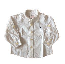 Camisa Manga Longa Branca Zara Baby