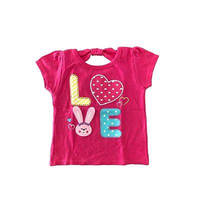 Blusa Rosa Love Garanimals