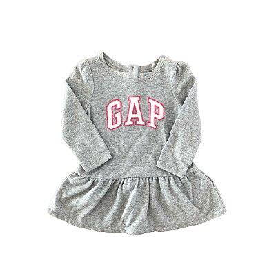 Vestido Moletom Cinza com Brilho Baby Gap