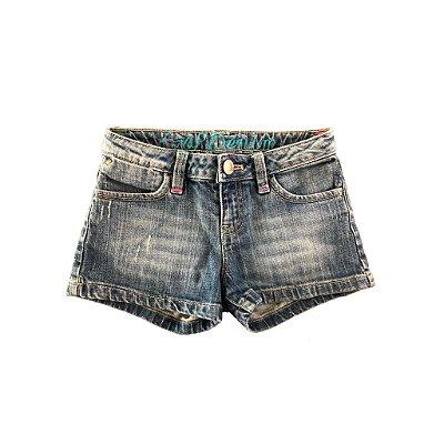 Shorts Jeans com Bolso traseiro Bordado Gap Kids