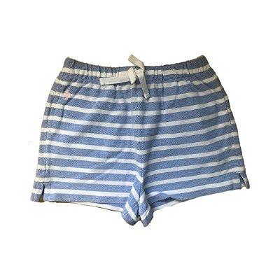 Shorts Listrado Azul e Branco Ralph Lauren