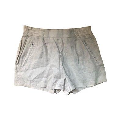 Shorts de Linho Bege Zara