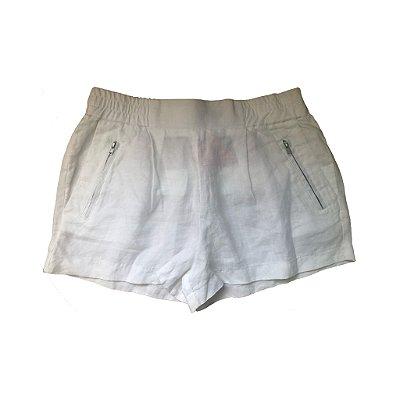Shorts de Linho Branco Zara