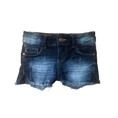 Shorts Jeans Desfiado Garota Lua