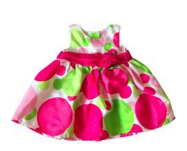 Vestido Festa Bolas Rosa e Verde Raze Editions