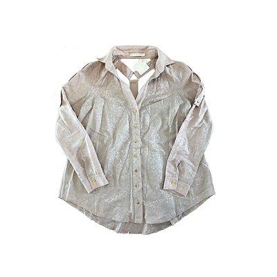 Camisa Nude com decote nas Costas Le Lis Blanc