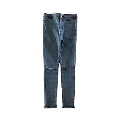 Calça Jeans Black com Rasgo no Joelho Zara Girls