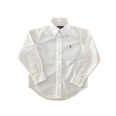 Camisa Branca Ralph Lauren Infantil