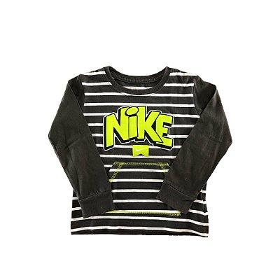 Camiseta Listrada Manga Longa Nike