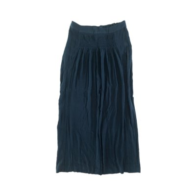 Calça Preta Pantalona com Lastex na Cintura Cris Barros