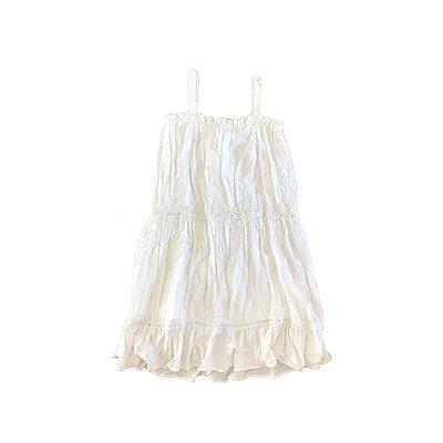 Vestido Branco com Renda Figurinha