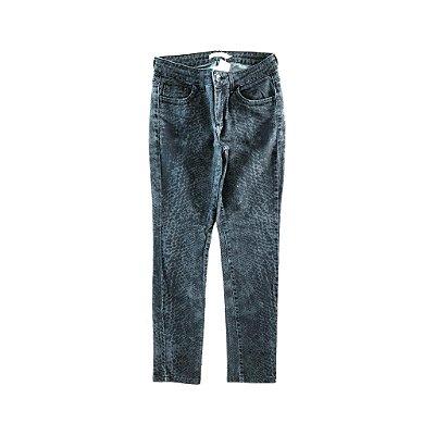 Calça Jeans Preta Tigrada Bobstore
