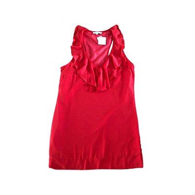 Vestido Vermelho com Babado Ateen para C&A