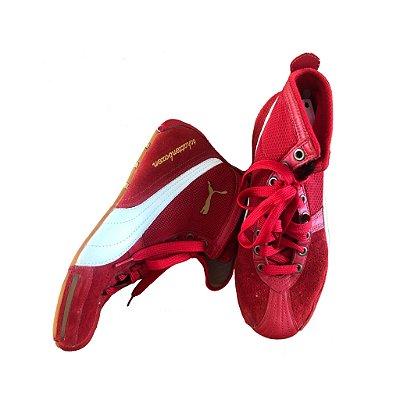 Tênis Vermelho e Branco Puma