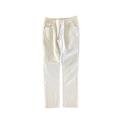 Calça em Veludo Branca Gymboree