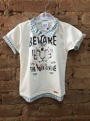 Camiseta Polo Tigre Zig Mundi (com etiqueta)