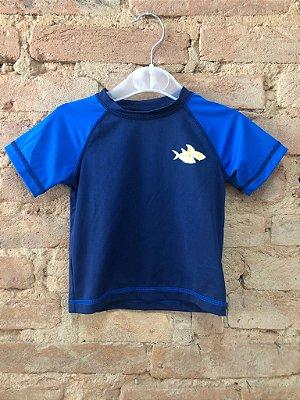 Camiseta Praia Azul Marinho OP