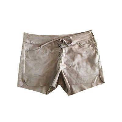 Shorts Suede Amarração NK para C&A