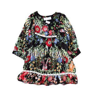 Vestido Manga Longa Florido Fábula