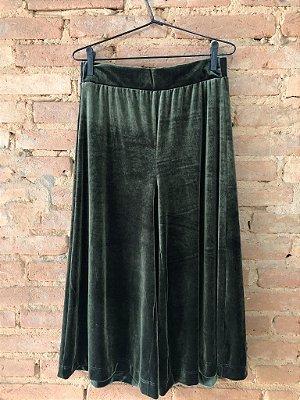 Calça Pantcourt Veludo Molhado Verde Cortelle