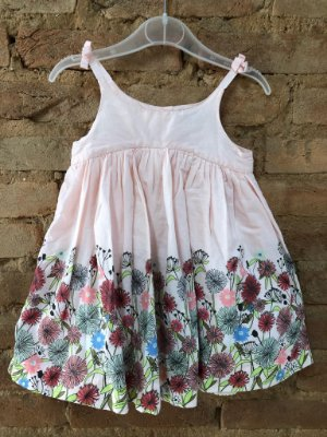 Vestido de Alcinha Rosa Florido Baby Gap