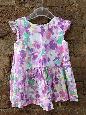 Vestido Lilás Colorido Zara