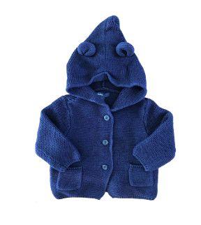Casaco Tricot Azul Marinho Baby GAP